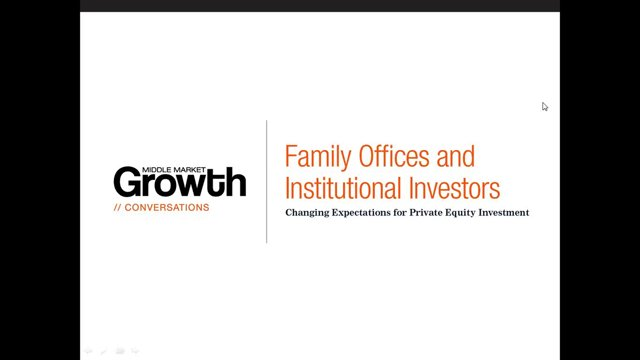 Family offices and institutional investors changing expectations from private equity investment - Middle office private equity ...