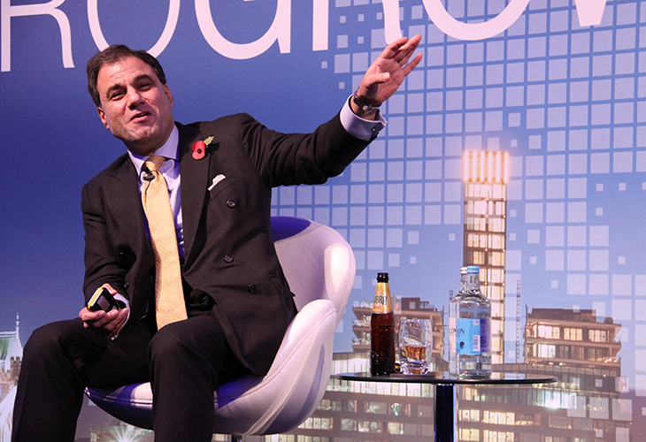 Lord Karan Bilimoria, CBE, DL, founder and chairman of Cobra Beer and the Cobra Foundation, speaks during the closing keynote address.